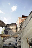 detail view of a burnt-out building Royalty Free Stock Image