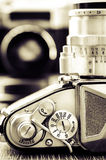 Detail view of classic camera with nice bokeh Stock Photography