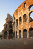 Colosseo at sunset, Rome. Detail view of coliseum at sunset, Rome, Italy Royalty Free Stock Image