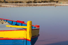 Detail view of a colorfully painted fishing Boat Royalty Free Stock Photo