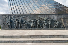 Detail view of Conquerors of Space Monument. Stock Photography