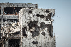 Detail view of donetsk airport ruins Stock Image