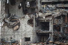 Detail view of donetsk airport ruins Stock Photo