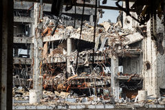 Detail view of donetsk airport ruins Royalty Free Stock Photography