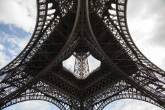 Detail view of Eiffel Tower in Paris Stock Photography
