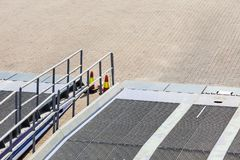 Detail view of ferry boat ramp Stock Photos