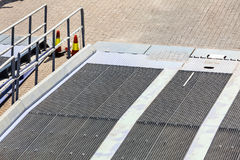 Detail view of ferry boat ramp Royalty Free Stock Image