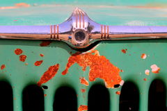 Detail View of Front Grill of Vintage Vehicle Royalty Free Stock Photo