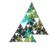 Geometric fractal Royalty Free Stock Images