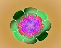 Green and colors nice flower fractal stock photo