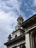 Detail view of Greenwich Naval College. Detail of tower at Greenwich Old Royal Naval College in London stock image