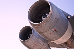 Detail view of a jet plane engine Royalty Free Stock Photos