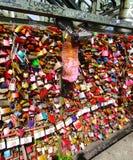 Hohenzollern bridge lock, Cologne stock photography
