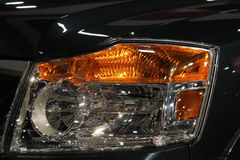 Detail view new truck headlamp Stock Photo