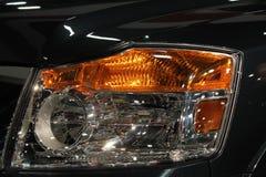 Detail view new truck headlamp Stock Photo