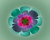 Nice flowers fractal royalty free stock image