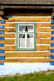 Detail view of old traditional colorful wooden house and window, Royalty Free Stock Image