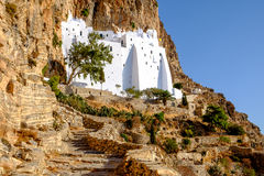 Detail view of Panagia Hozovitissa monastery on Amorgos island, Stock Image