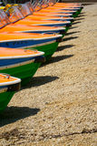 Detail view of pedal boats in a row Royalty Free Stock Photos