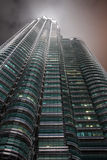 Detail view of Petronas Towers. Kuala Lumpur, Malaysia-December 30, 2010:in Petronas, Twin Towers, Tallest building in Asia, Kuala Lumpur, Malaysia Royalty Free Stock Image