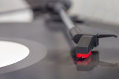 Detail view of record player Royalty Free Stock Images
