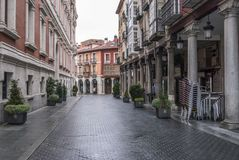 Detail view of a street Valladolid. Detail viewl of a street Valladolid. Spain Stock Photo