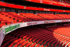 Detail view of supporter seating at The Emirates Stadium Royalty Free Stock Images