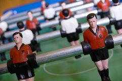 Detail View of Table Soccer. With red and white Dress Stock Photography