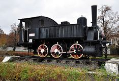Detail view, old historic steam locomotive Royalty Free Stock Photos