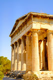 Detail view of temple of Hephaestus in Ancient Agora, Athens Royalty Free Stock Photos