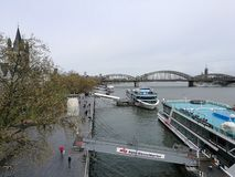 Detail view to Cologne Rhein River Royalty Free Stock Images