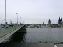 Detail view to Cologne Rhein River Royalty Free Stock Image