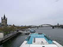 Detail view to Cologne Rhein River Stock Images