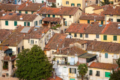 Detail view of traditional Italian town roofs and houses Stock Images