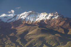 Detail view of volcano Chachani near city of Arequipa in Peru Royalty Free Stock Photo