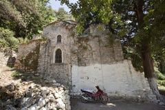 Detail of village Agios Sotias in Greece - island Royalty Free Stock Image