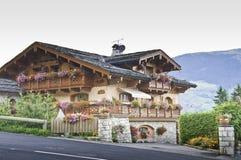 Detail of the village of Le Praz Stock Images