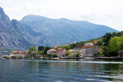 Detail of the village of Prcanj. Coast village of Prcanj, Montenegro Stock Photos