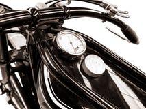 Detail Of Vintage Black Motorcycle Stock Photo