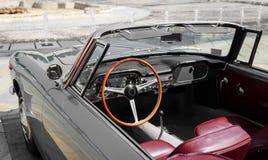 Detail of a vintage car convertible Stock Photos