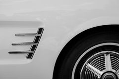 Detail of a vintage classic car Royalty Free Stock Photo