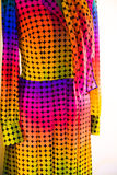 Detail of a vintage colorful dress. royalty free stock photos