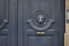 Detail of vintage door in Paris, France Stock Images
