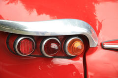 Detail of a vintage French car, backlights Royalty Free Stock Image