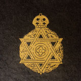 Detail of vintage Jewish Book cover Stock Photos