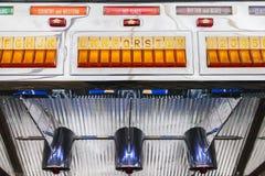 Detail of a vintage jukebox Royalty Free Stock Photo