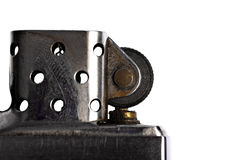 Detail with vintage metal lighter Royalty Free Stock Image