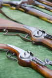 Detail of vintage military rifles Royalty Free Stock Images