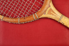 Detail of vintage racket Royalty Free Stock Photos