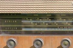 Detail of vintage radio. Front Stock Image